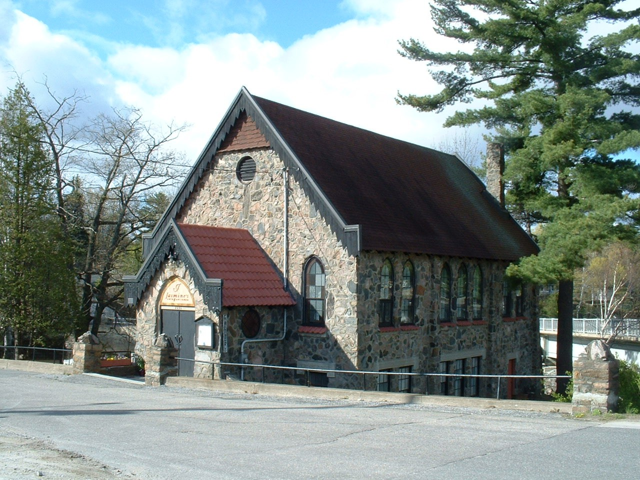 view of church building