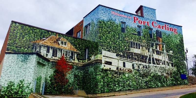 port carling wall mural