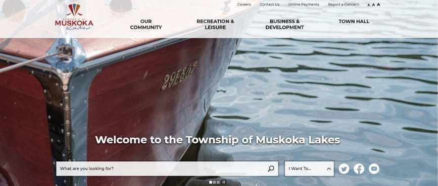 image of website homepage
